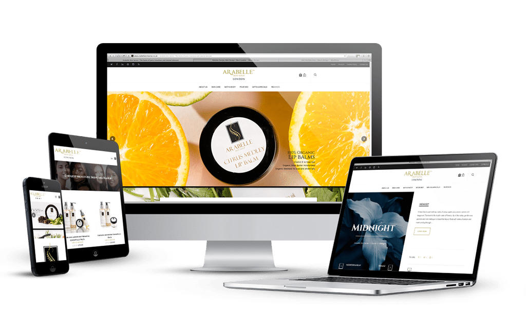 branding print media design logo design and ecommerce website design and development for natural skin care company - West Website