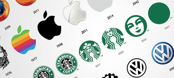 24 Famous Logos Then And Now Web Design London Okose